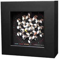 design uhr zeitkunst designuhr hexagon version als tischuhr ars mundi