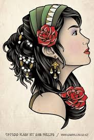 gypsy head scarf tattoo design in 2017 real photo pictures