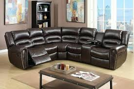 Black Leather Reclining Loveseat Latham Media Recliner With Cup Holder Leather Reclining Sofa Cup