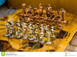 moroccan unique handmade chess set in tineghir stock image image