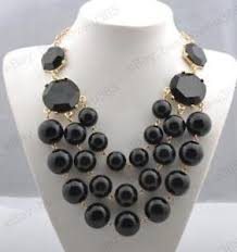 large black beaded necklace images Big necklace ebay JPG