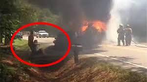 video shows man in u0027captain america u0027 shirt rescuing victims of