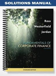 solutions manual fundamentals of corporate finance 9th edition