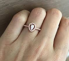 shaped engagement ring small gold promise ring pear shape engagement