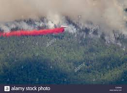 Fires Near Alaska by P3 Aircraft Dumps Retardant To Suppress The Hastings Wildland