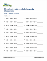 printable worksheets in math for grade 4 worksheets grade 4 mathematics homeshealth info
