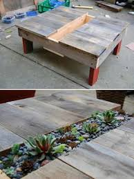 putting the planks on their ends for a diy table top would make
