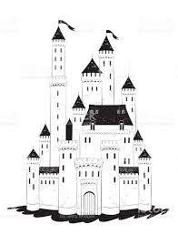 mansion clipart black and white medieval castle draw stock vector art 663469384 istock
