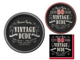 50th birthday party supplies vintage dude 50th birthday party supplies bundle 3