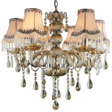 Casual Chandeliers Casual Chandeliers With Iron Fixture Glass Shade 6 Light