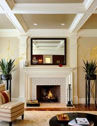 Tiled Fireplace Wall by Modern Fireplace Tile Ideas