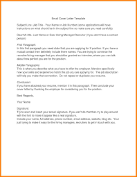 resume cover letter email subject letter idea 2018
