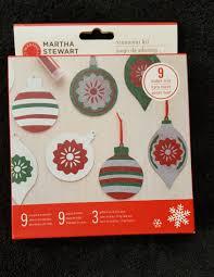 nib martha stewart diy christmas ornament kit martha stewart