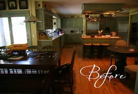 kitchen inspired with butcher trends including distressed island