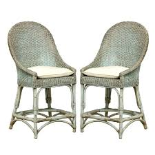 country french bar stoolsaqua rattan counter stools pair french