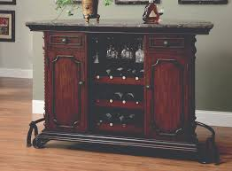 Furniture Wine Bar Cabinet Funiture Stand Alone Bar Cabinet Made Of Wood Combined With Grey