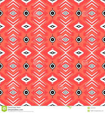 Red Coral Home Decor by Hipster Pattern With Geometric Forms In Coral Red Royalty Free