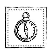 hand drawn vintage compass sketch journey travel vector image