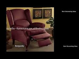 wingback recliner wingback recliners chairs living room