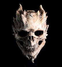 bone warrior aged bone skull mask demon skull horror