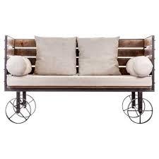 canap industriel canap industriel original sur roues en bois et m tal vical home vi