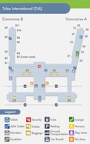 tulsa airport map tulsa airport tul terminal map