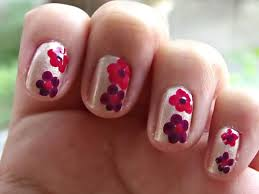 easy nail art designs no tools romantic flower nails tutorial