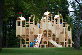 frolic 101 wooden swing set and outdoor playset cedarworks playsets