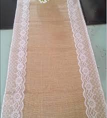 Burlap Lace Table Runner 30cm 270cm Burlap Lace Wedding Table Runner Jute Burlap Table