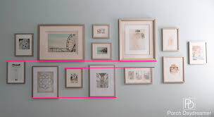 create a gallery wall that looks like a designer did it porch