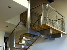 Modern Stair Banister Stainless Steel Stairs Parts Stainless Steel Staircase With Glass