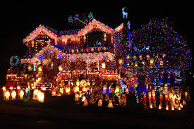 best christmas lights for house one of the competitors in abc s the great christmas light fight is