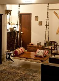 home interior in india oonjal wooden swings in south indian homes swings living spaces