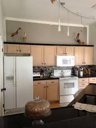Wall Colors For Kitchens With Oak Cabinets Sherwin Williams Functional Gray To De Pink Pickled Oak Cabinets