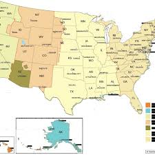us map with state abbreviations and time zones usa map with states with abbreviations quiz crunch us map state