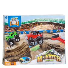 monster truck race play dirt monster truck rally playset the paper store