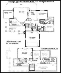 large ranch floor plans large hillside ranch home plan chp lg 3096 ga sq ft luxury home