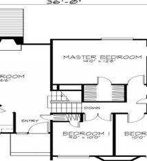 simple two bedrooms house plans for small home modern minimalist