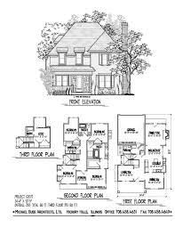 narrow lot house plans with rear garage cottage farm house only 34 4 wide optional third floor finished
