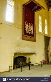 the fireplace in the great hall stirling castle scotland stock