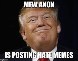 mfw anon is posting hate memes meme