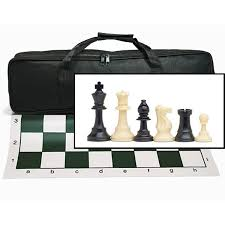 Chess Board Design Wood Expressions Tournament Chess Set With Black Canvas Bag New
