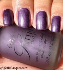 hues of purple orly satin hues satin finesse of life and lacquer