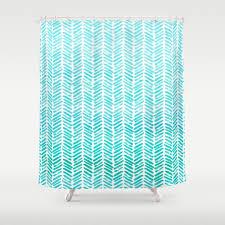 Green Chevron Shower Curtain Blue And Green Chevron Shower Curtain Shower Curtains Ideas