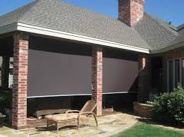 Roll Up Patio Blinds by Control Light Heat Glare On Patio With Shades From Beat The Heat