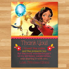 printable thank you cards princess elena of avalor thank you card chalkboard elena thanks disney