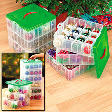 ornament storage box makes putting away and taking out