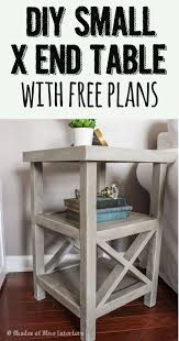 Making Wooden End Tables by Makeover Monday Small X End Table Free Plans Home Diy