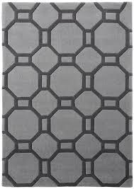 Modern Designer Rugs by Modern Geometric Design Rug Octagon U0026 Rectangle 100 Acrylic Large