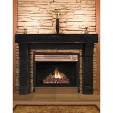 Primitive Home Decors by Knockout Gas Fireplace Design With White Mantel Surround Oak